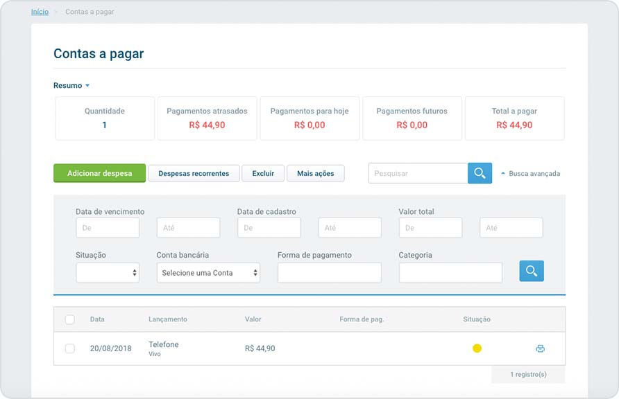 Integrar sistema contábil do cliente