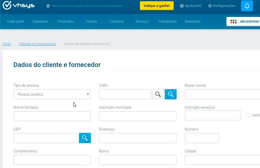 Cadastro de Clientes para imobiliária
